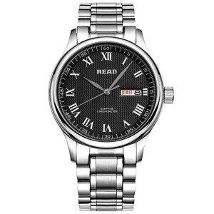 锐力(READ)手表 钢表带石英男表黑罗盘R6003G