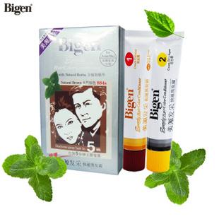 Bigen美源发采植物精华染发膏 快速染发剂 官方授权 884s天然棕色