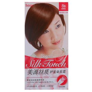美源丝质护发染发霜(T+L)进口女士植物染发剂发采遮盖白发染发膏 8B奶茶色