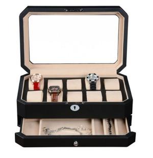 BOYIPAK 艺博 名表收藏盒 机械表盒 皮制手表收纳盒 商务礼品盒 WC214-12BDO
