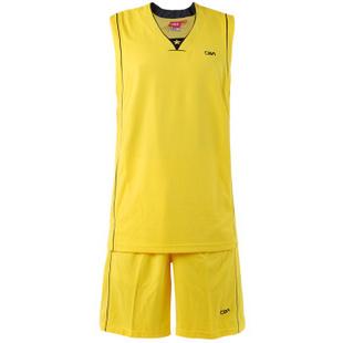 CBA男款专业比赛运动篮球服套装 -111黄色 4XL
