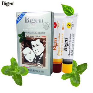 Bigen美源发采植物精华染发膏 快速染发剂 官方授权 883s黑褐色