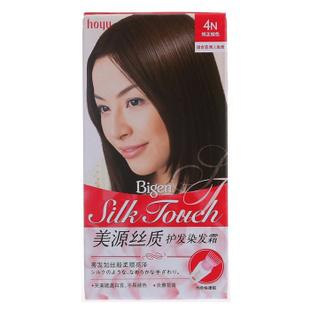 美源丝质护发染发霜(T+L)进口女士植物染发剂发采遮盖白发染发膏 4N纯正棕色