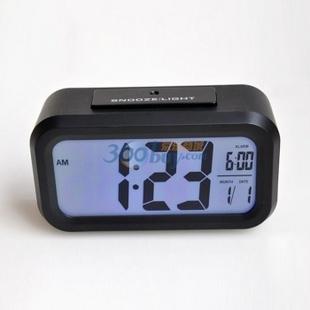 琪特 时尚电子钟表聪明闹钟台钟6021(多色可选) 黑色