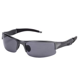 露西维特偏光镜子驾驶镜太阳镜蛤蟆镜男款户外眼镜镜男款2506 枪灰框