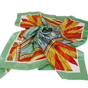万事利2014年春夏正品桑蚕丝绸围巾台版大方巾丝巾女 百灵鸟的歌声 百灵鸟的歌声 88*88cm