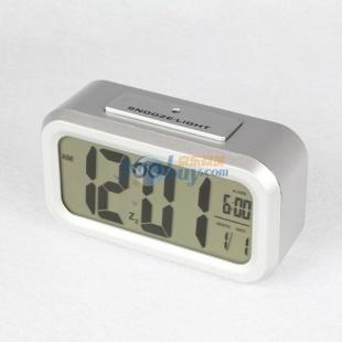 琪特 时尚电子钟表聪明闹钟台钟6021(多色可选) 银色