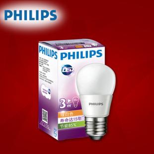飞利浦LED灯泡 节能球泡 E27 3 5 8 10 13W瓦可选 3W/新老替换详见描述 单只装 黄光