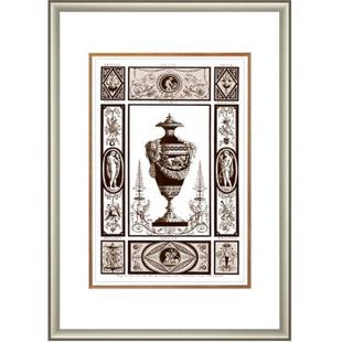 思联画饰 SilianPT801 全网独家进口画芯 装饰类新古典风格 罗马系花瓶画 2 500*700mm