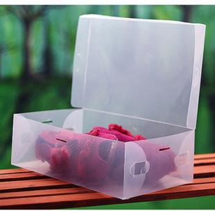 翻盖式女士透明收纳鞋盒 28*18*10cm
