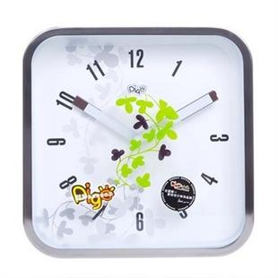【货到付款】优雅100 DIGO迪高 静音挂钟花绚彩 暖白N1002A2.CG咖 时钟挂钟表