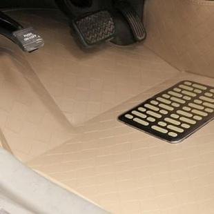 昀龙车品 一体成型大全包围汽车脚垫防水易打理现代途胜 索纳塔 IX35 悦动朗动 新胜达(温馨米 朗动)