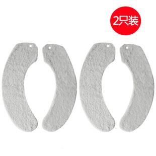 ENJOY101 台湾进口 马桶座 坐垫 无黏贴次数限制 家用型 长毛绒 2只装 灰色