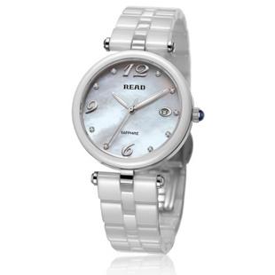 锐力(READ)手表 波西米亚系列白陶瓷石英女表R3001L 白面白陶瓷