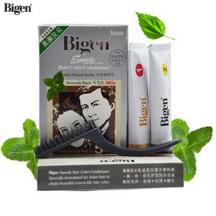 Bigen美源发采植物精华染发膏 快速染发剂 官方授权 882s棕黑色
