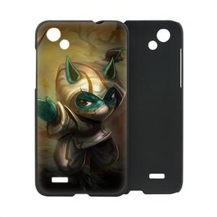 三少 HTC T528d 磨砂手机保护外壳 手机套 个性游戏 LOL英雄联盟 凯南