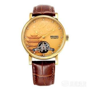 宾爵真钻游龙戏珠男士机械腕表(赠同款手表表带*1、宾爵腰带*1 )