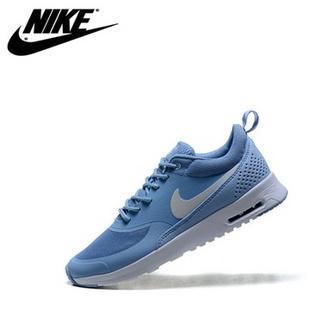 耐克Nike Thea Print系列 运动休闲女鞋气垫跑步鞋(灰杏红 39)