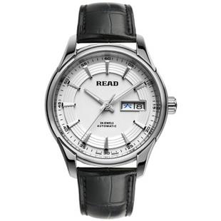 锐力(READ)手表 传奇系列全自动机械男表R8082G 白面黑皮