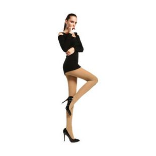 宝娜斯BONAS秋冬1200D天鹅绒保暖袜 美腿塑形打底袜 黑色