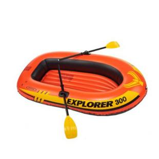 INTEX58332探险者三人充气船组 钓鱼船 橡皮艇 送船浆和打气泵
