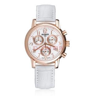 锐力(READ)R7003L手表已转京东自营,请点击下方链接购买! 玫瑰金白皮带