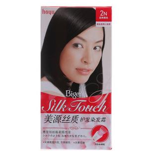 美源丝质护发染发霜(T+L)进口女士植物染发剂发采遮盖白发染发膏 2N自然黑色