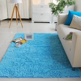 江南叶 雪尼尔脚垫 100jnx地毯 地垫多规格 灰色 160*230CM