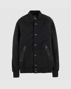 羊毛混纺立领运动夹克