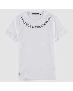 活力字母印花纯棉短袖T恤