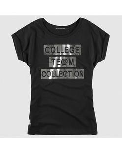 字母切割烫片纯棉短袖T恤