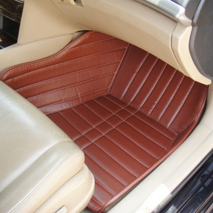 申杰SHENJIE 全包围汽车脚垫 现代新朗动 七 八代索纳塔 IX35 新胜达 瑞纳 雅绅特 伊兰特棕色 请留言车型和年份均码