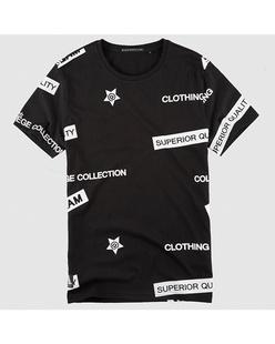 创意字母印花纯棉短袖T恤