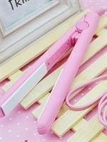 心诺 粉色迷你陶瓷釉电夹板 直发器 直板夹 直发夹板 便携式拉直板HM09