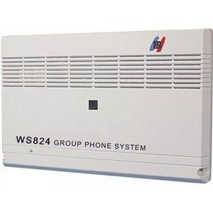 正品国威(塞纳科技)电话交换机WS824(10A)型程控交换机8拖24来显三段录音