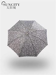 梦芭莎太阳城豹纹晴雨伞三折折叠超轻个性雨伞防雨防风