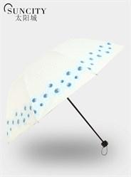 梦芭莎太阳城三折黑胶太阳伞春暖花开外翻阿波罗晴雨伞