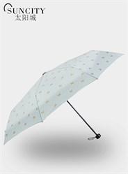 梦芭莎太阳城女士雨伞三折时尚蝴蝶结折叠晴雨伞小清新复古伞