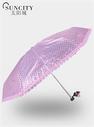 梦芭莎太阳城五折迷你黑胶太阳伞携带方便防紫外线遮阳伞