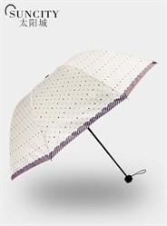 梦芭莎太阳城遮阳伞三折阿波罗黑胶太阳伞防紫外线公主伞