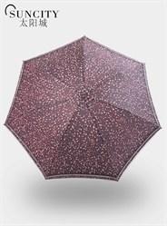 梦芭莎太阳城二折晴雨伞彩胶防紫外线太阳伞一人伞