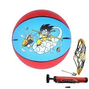 红双喜华士儿童娱乐健身3号彩色橡胶篮球 HP903 网上支付送打气筒+气针+网兜