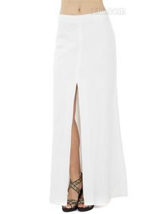 BCBGMAXAZRIA 女士白色半身长裙