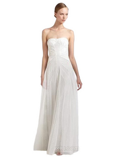 BCBGMAXAZRIA 女士白色长裙(美国直发)