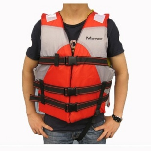救生用品成人救生衣潜水装备 漂流 充气船 橡皮艇必备 蓝色