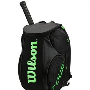 Wilson/威尔胜 Wilson Blade Tour Molded 网球背包 双肩 黑/绿色 WRZ842596