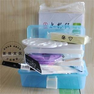 升级版马利牌24色水粉颜料工具套装水粉套装颜料9件套