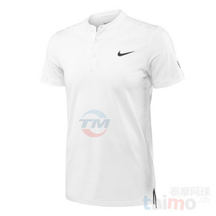 Nike Lawn Premier RF Henley 无领网球服 费德勒 白