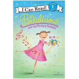 原版儿童英文绘本I Can Read Pinkalicious 粉红控系列之粉红控和完美的礼物 送音频请联系客服适合6-12岁有基础孩子