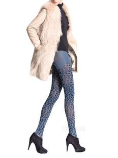 TINCOCO 420D蓝色豹纹时尚瘦腿袜 新款 54201